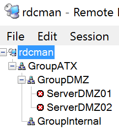 RdcMan Sample